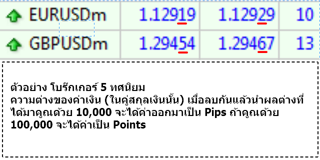 Pips, Points คืออะไร